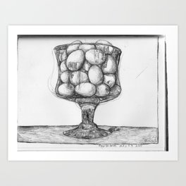 eggs in glass Art Print