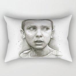 Stranger Things Eleven Portrait Upside Down Rectangular Pillow