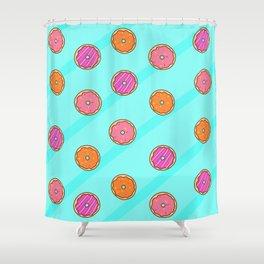 Pastel Glazed Donuts Shower Curtain