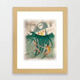 The Captain's Beard Framed Art Print