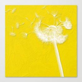 Freesia Yellow Dandelion Canvas Print