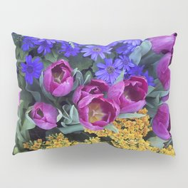 Floral Spectacular: Blue, Plum and Gold - Olbrich Botanical Gardens Spring Flower Show, Madison, WI Pillow Sham
