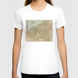Vintage Map of Cleveland OH (1894) T-shirt