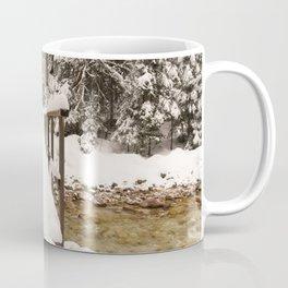 Pericnik Falls Snowy Bridge Coffee Mug