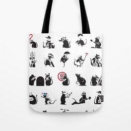 Pattern Rats Tote Bag