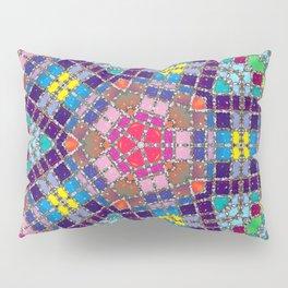 Gemstones and Metal Pentagon Pattern Pillow Sham