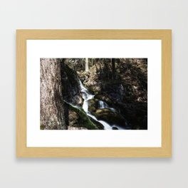 Cascada in lower Austria Framed Art Print