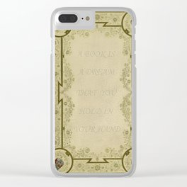 Book Quote 1 Clear iPhone Case