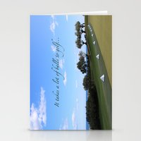 golf Stationery Cards featuring Golf by Rebecca Bear