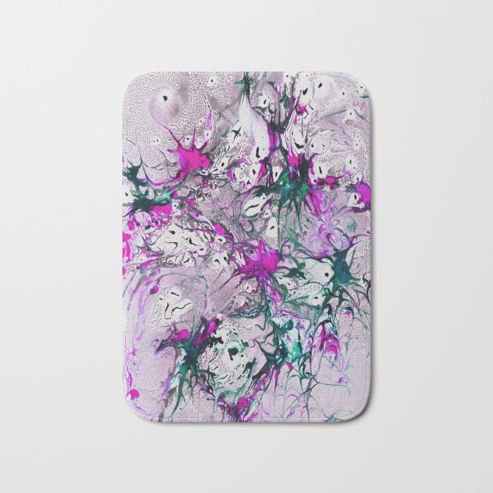 Marble Garden Bath Mat by Crestbirch BMT8606721