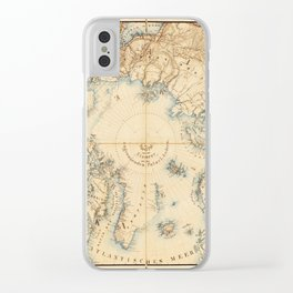 Map of the Arctic and Adjacent Regions (1855) Clear iPhone Case