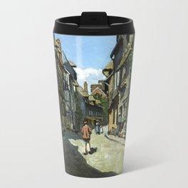 Rue de la Bavole Honfleur - Claude Monet - 1864 Travel Mug
