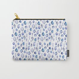 Gems, gemstone, gem illustration, purple gem, purple print, purple art, girly art, crystals Carry-All Pouch
