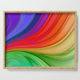 Abstract Rainbow Background Serving Tray