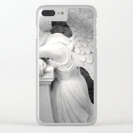 crying angel Clear iPhone Case