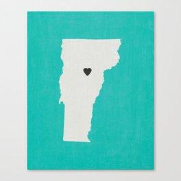 Vermont Love Canvas Print