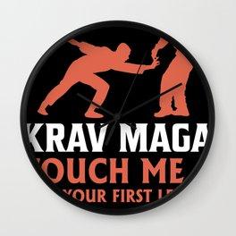 Krav Maga martial arts fighter kickboxing Wall Clock