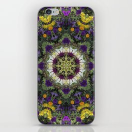 Summer Floral Jewels Kaleidoscope iPhone Skin