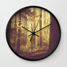 She Experienced Heaven on Earth Among the Trees Wall Clock