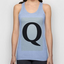 Q MONOGRAM (BLACK & BEIGE) Unisex Tank Top