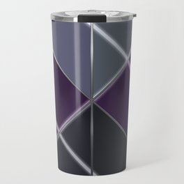 Mosaic tiled glass with a laser show Travel Mug