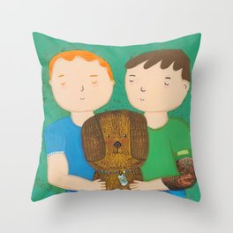 Dean, Steve and Luci Throw Pillow