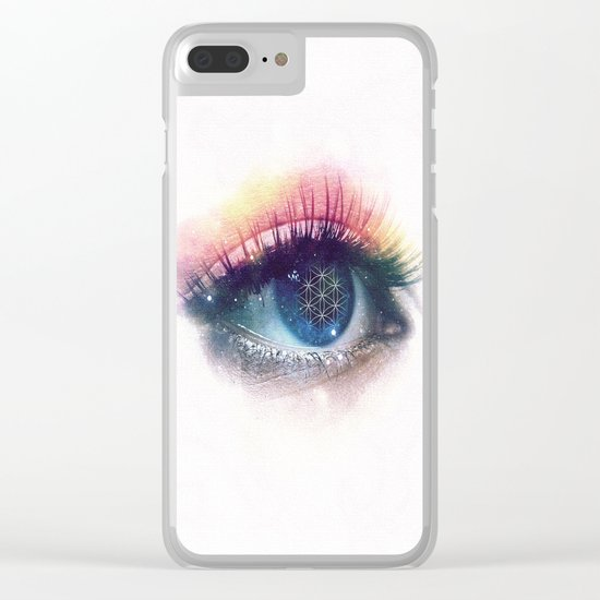 Flower Of Life (Cosmic Vision) Clear iPhone Case