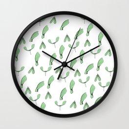Green Maple Keys Wall Clock