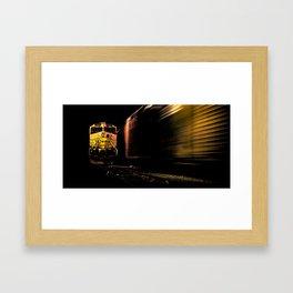 """ Space Train "" - Print Framed Art Print"