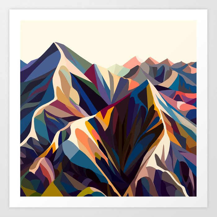 Mountains original Kunstdrucke