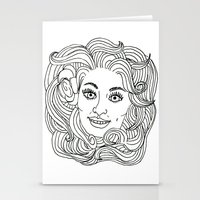 dolly parton Stationery Cards featuring Queen Dolly by Slumber Party Death Match