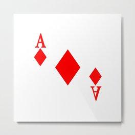 Ace of Diamonds Metal Print