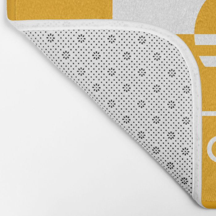 Milwaukee Wisconsin - Gold - People's Flag of Milwaukee Bath Mat
