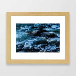 Like Stones Under Rushing Water Framed Art Print