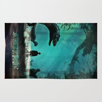 jurassic park Area & Throw Rugs featuring Jurassic Park by Fan Prints