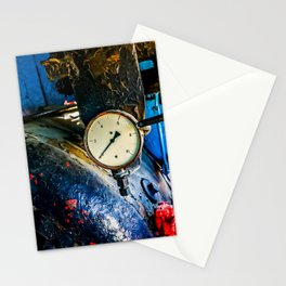 Water Boiler And A Steam Pressure Gauge In A Vintage Steam Locomotive Cabin Stationery Cards