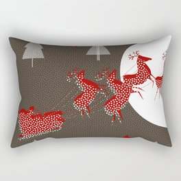 Flying Santa Rectangular Pillow