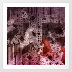 illusions in Menger's Sponge Art Print