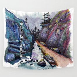 Eleven MiIe Canyon with text Wall Tapestry
