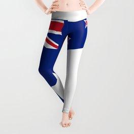 New Zealand Flag With Kiwi SIlhouette Leggings