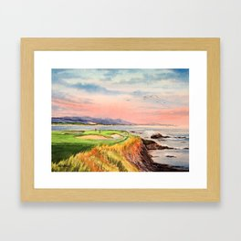 Pebble Beach Golf Course 7th Hole Framed Art Print