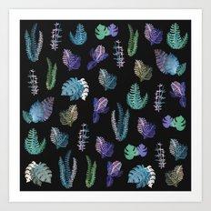 tropical at Nigth Art Print