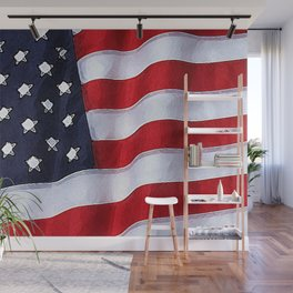 Fancy Flag:  USA 2 Wall Mural