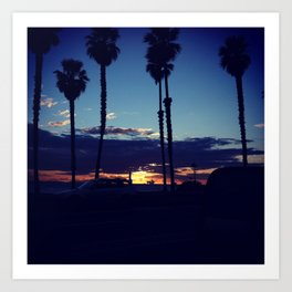 Sunset Beach Art Print