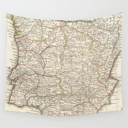 Vintage Map of Spain (1775) Wall Tapestry