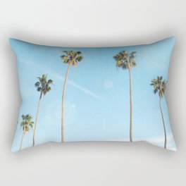 Palm Tree Morning Rectangular Pillow
