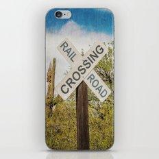 Railroad sign iPhone & iPod Skin