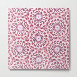 Pink and Red Medallions Metal Print