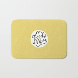 good vibes logo new art love cute 2018 2019 style yellow vibes beach new hot style fashion case cove Bath Mat