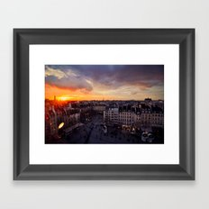 Paris Skyline Sunset Framed Art Print